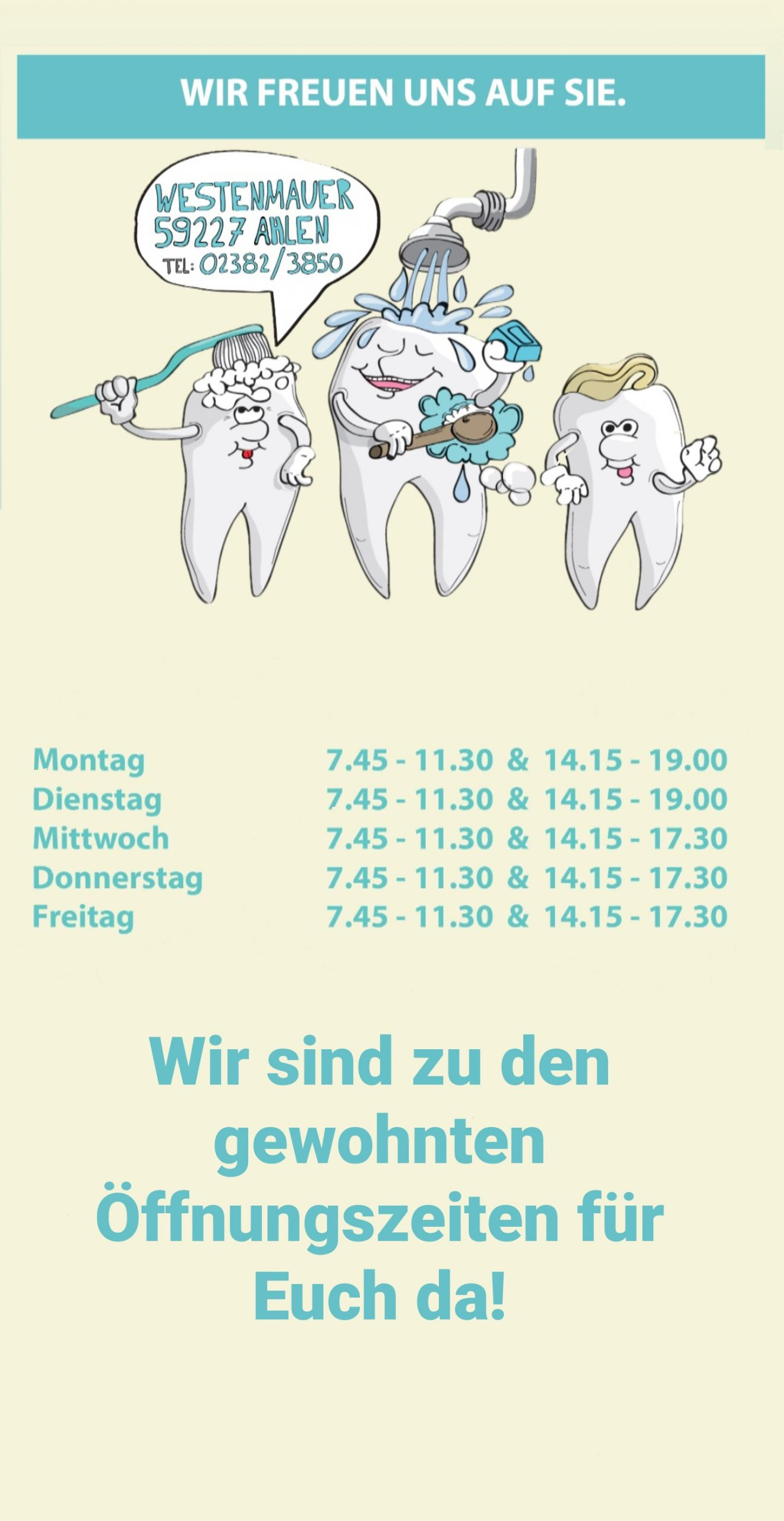 außen Ihre Zahnärzte in Ahlen